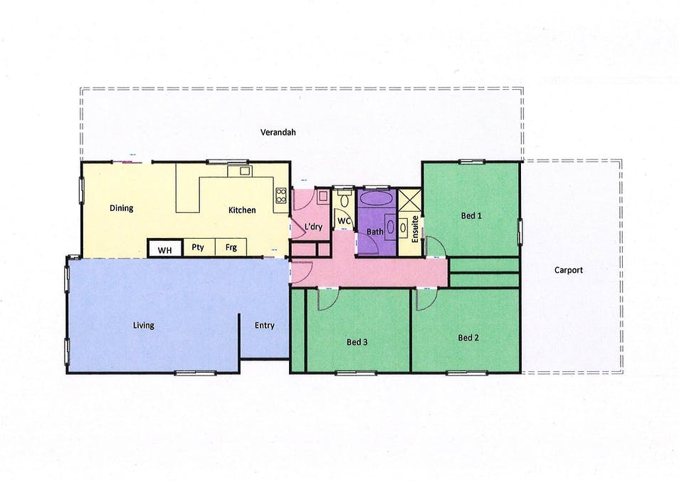 23 Port Fairy Road, Ararat, VIC, 3377 - Floorplan 1