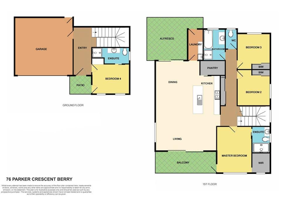76 Parker Crescent, Berry, NSW, 2535 - Floorplan 1