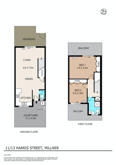 11/13 Harris Street, Millner, NT, 0810 - Floorplan 1