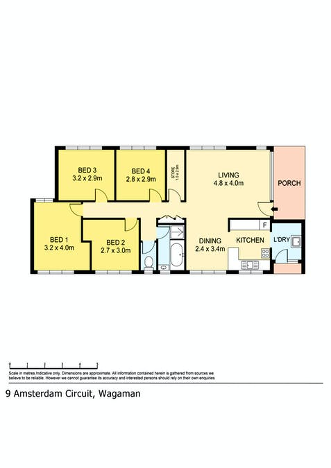 9 Amsterdam Circuit, Wagaman, NT, 0810 - Floorplan 1