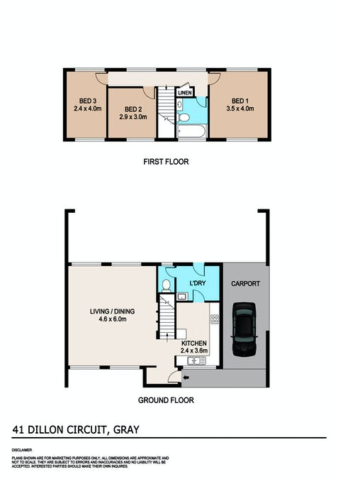 41 Dillon Circuit, Gray, NT, 0830 - Floorplan 1