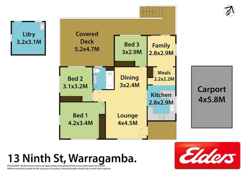 13 Ninth Street, Warragamba, NSW, 2752 - Floorplan 1
