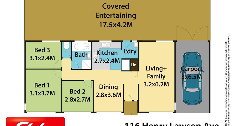 116 Henry Lawson Avenue, Werrington County, NSW, 2747 - Floorplan 1