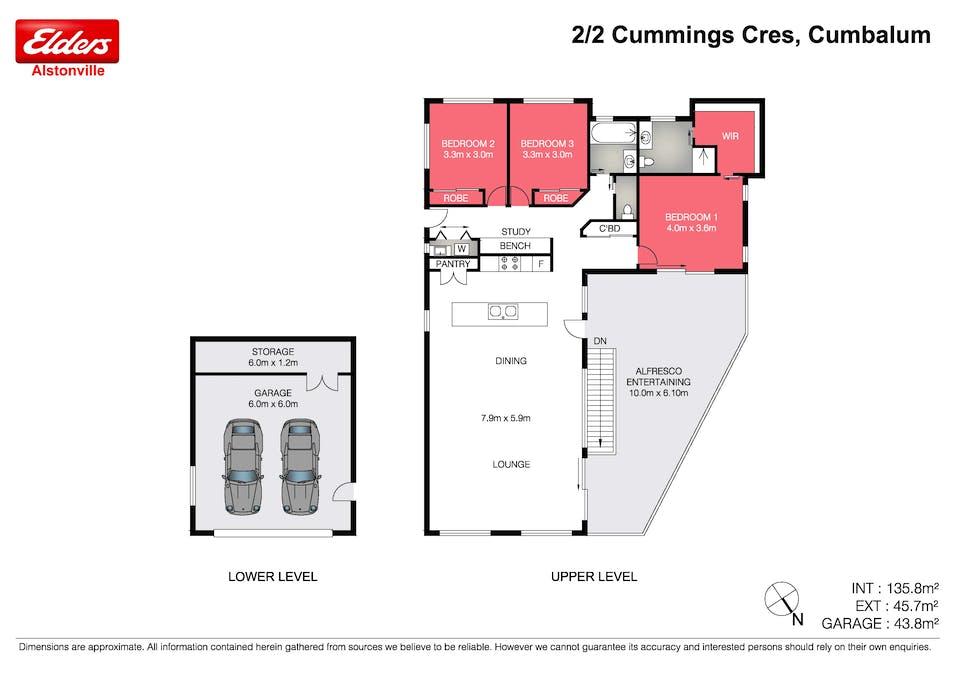 2/2 Cummings Crescent, Cumbalum, NSW, 2478 - Floorplan 1