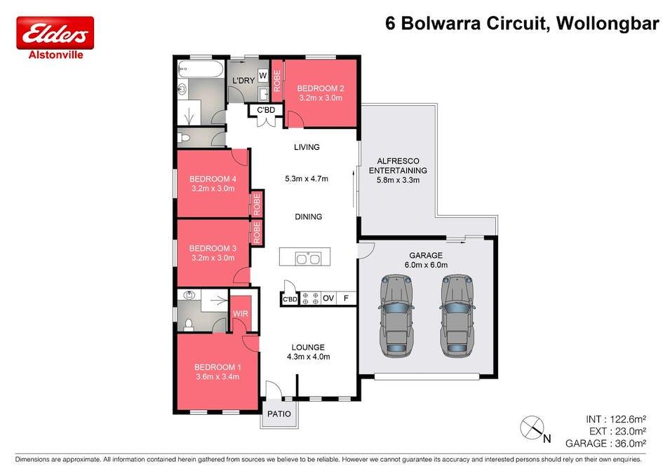 6 Bolwarra Circuit, Wollongbar, NSW, 2477 - Floorplan 1
