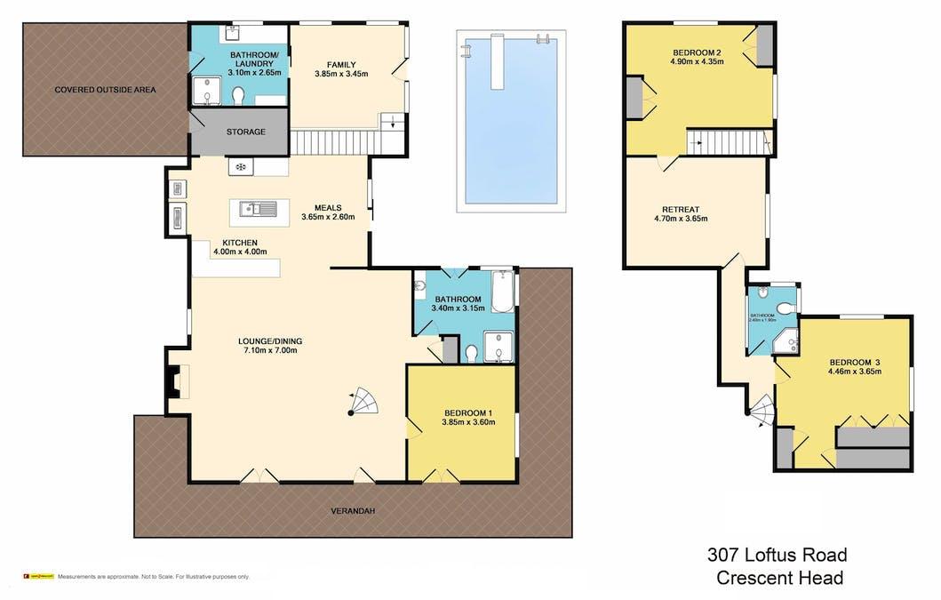 307 Loftus Road, Crescent Head, NSW, 2440 - Floorplan 1