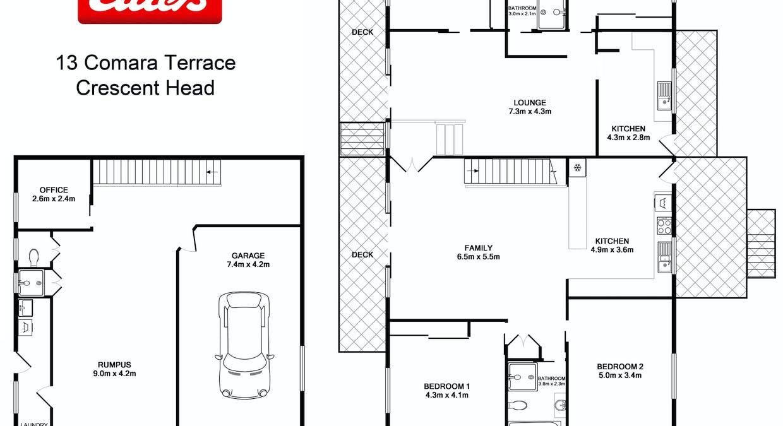 13 Comara Terrace, Crescent Head, NSW, 2440 - Floorplan 1
