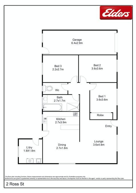 2 Ross Street, Goulburn, NSW, 2580 - Floorplan 1