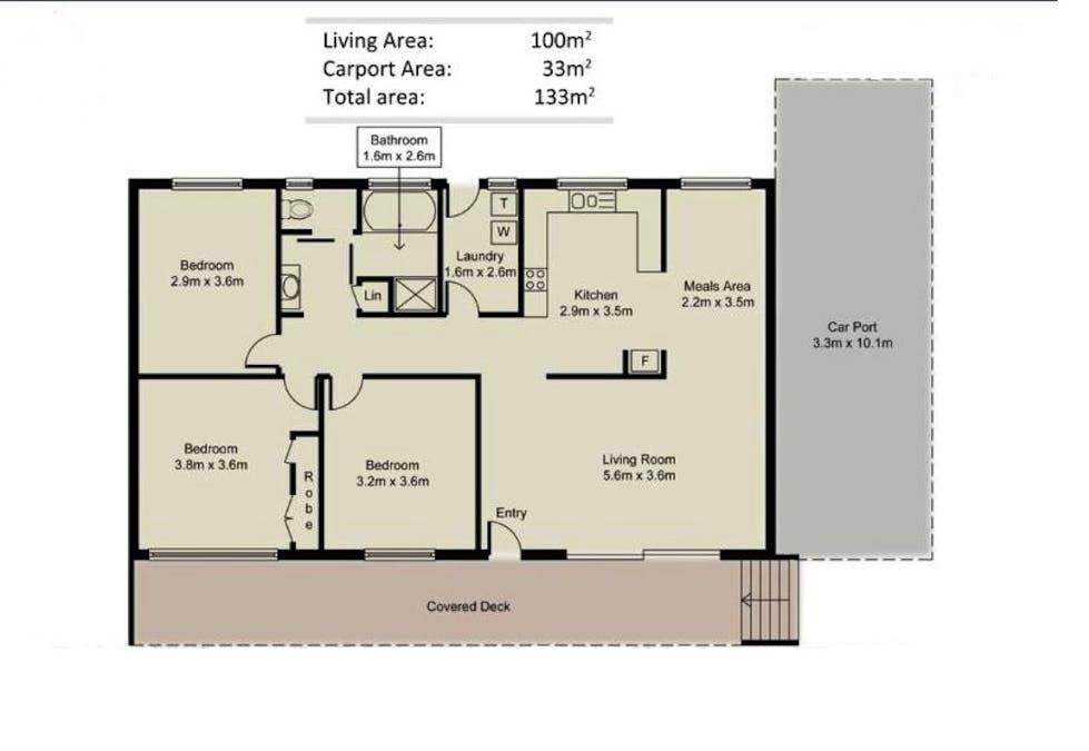 26 Peppermint Place, South Grafton, NSW, 2460 - Floorplan 1