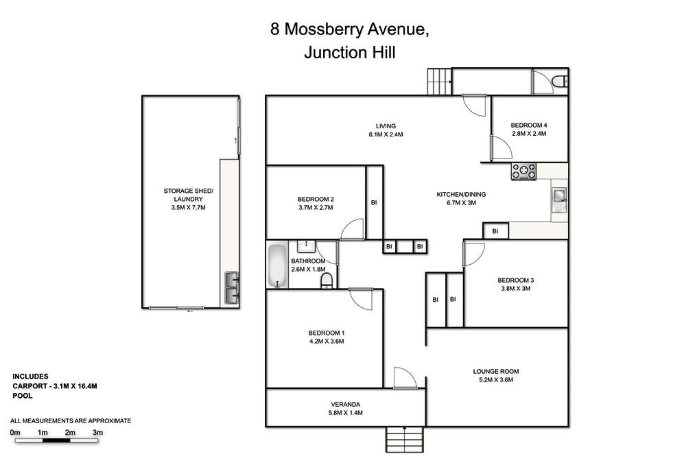 8 Mossberry Avenue, Junction Hill, NSW, 2460 - Floorplan 1
