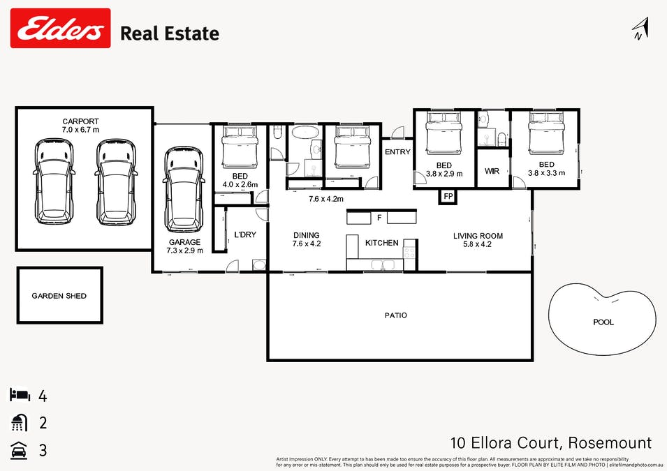 10 Ellora Court, Rosemount, QLD, 4560 - Floorplan 1
