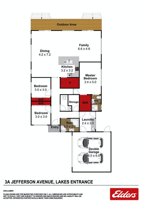 3A Jefferson Avenue, Lakes Entrance, VIC, 3909 - Floorplan 1