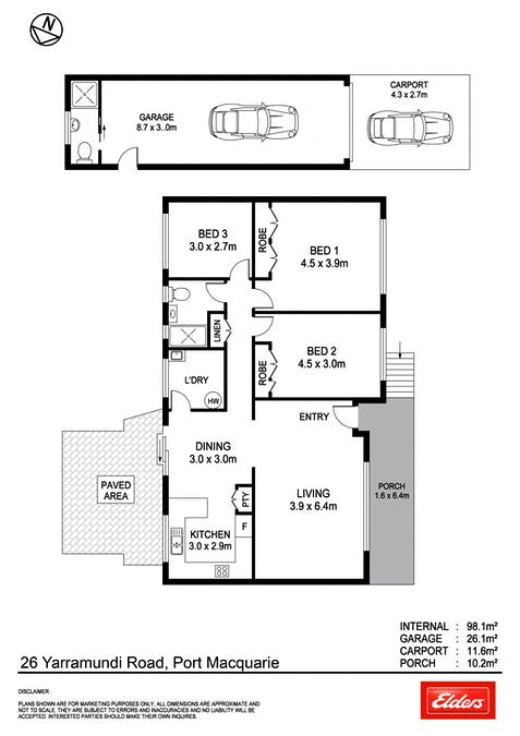 26 Yarramundi Road, Port Macquarie, NSW, 2444 - Floorplan 1