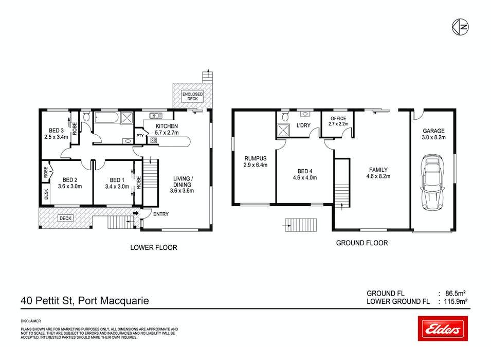 40 Pettit Street, Port Macquarie, NSW, 2444 - Floorplan 1