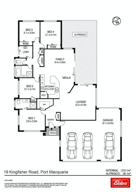 19 Kingfisher Road, Port Macquarie, NSW, 2444 - Floorplan 1