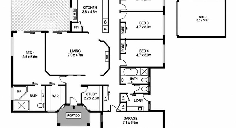 20 Grenadines Way, Bonny Hills, NSW, 2445 - Floorplan 1
