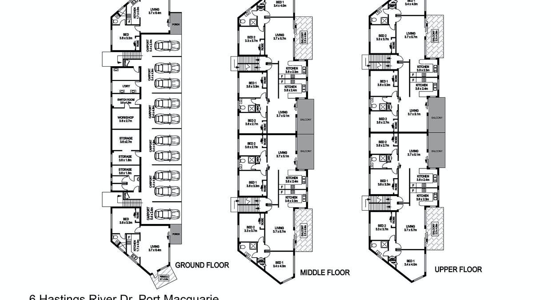 6 Hastings River Drive, Port Macquarie, NSW, 2444 - Floorplan 1