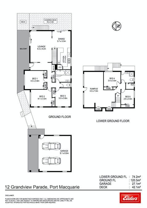 12 Grandview Parade, Port Macquarie, NSW, 2444 - Floorplan 1