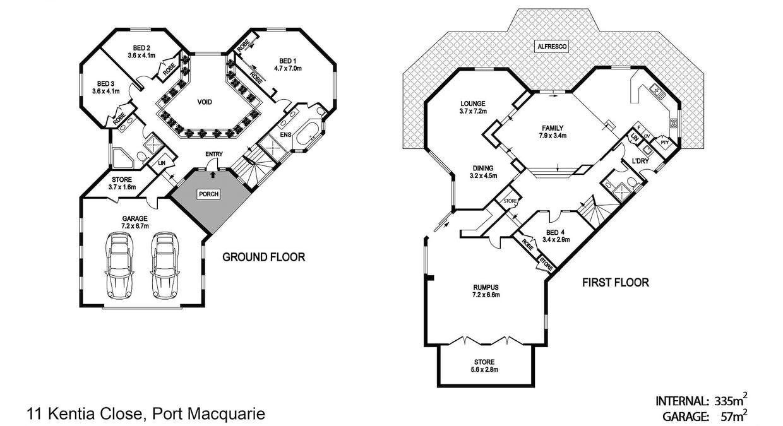 11 Kentia Close, Port Macquarie, NSW, 2444 - Floorplan 1