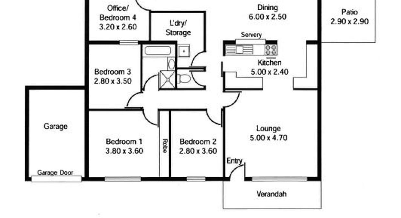 13 Margaret Street, Jamestown, SA, 5491 - Floorplan 1