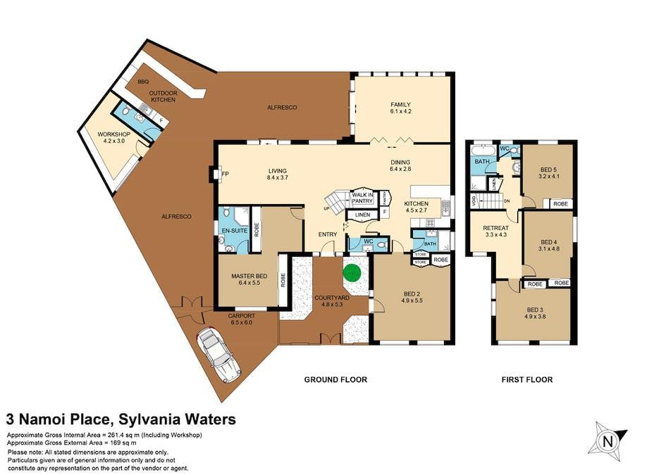 3 Namoi Place, Sylvania Waters, NSW, 2224 - Floorplan 1