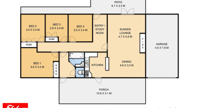 109 Ramsay Road, Cambooya, QLD, 4358 - Floorplan 1