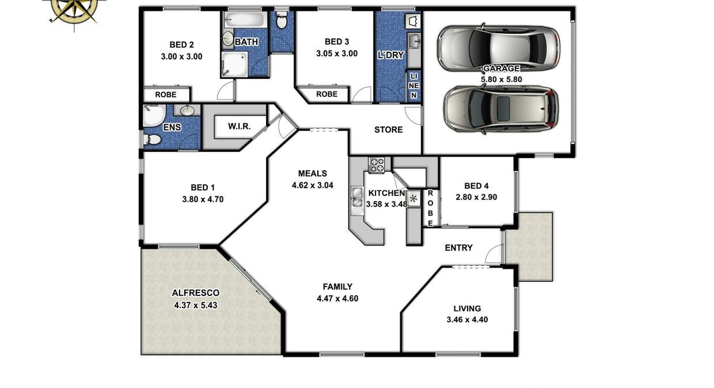 9 Yellowlea Court, Oakey, QLD, 4401 - Floorplan 1