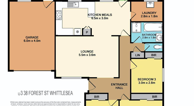 3/38 Forest Street, Whittlesea, VIC, 3757 - Floorplan 1