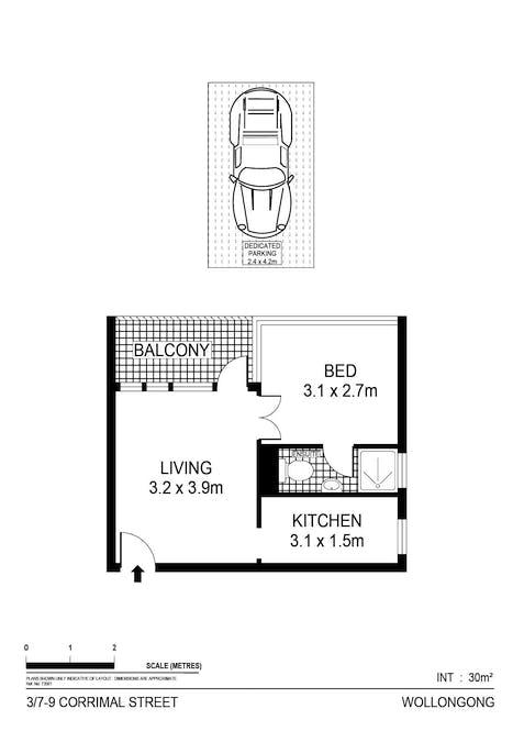 3/7-9 Corrimal Street, Wollongong, NSW, 2500 - Floorplan 1