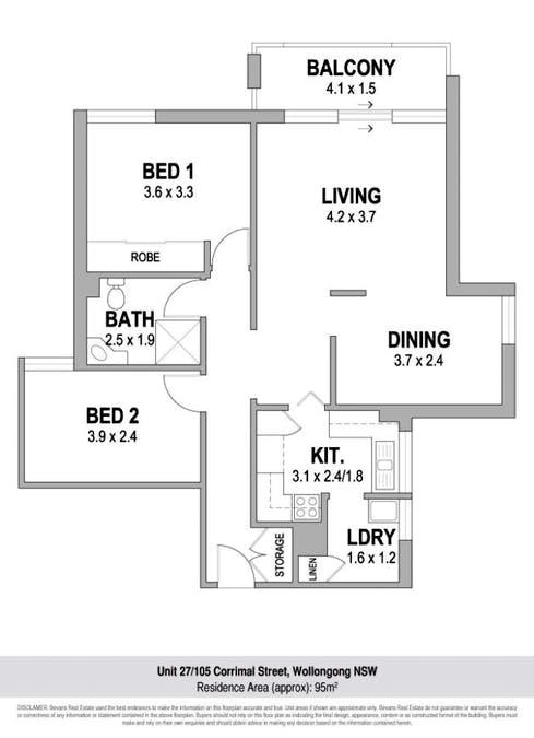 27/105-109 Corrimal Street, Wollongong, NSW, 2500 - Floorplan 1