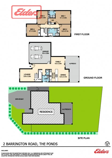 2 Barrington Rd, The Ponds, NSW, 2769 - Floorplan 1
