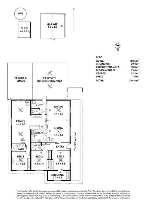 2 Granites Road, Tailem Bend, SA, 5260 - Floorplan 1