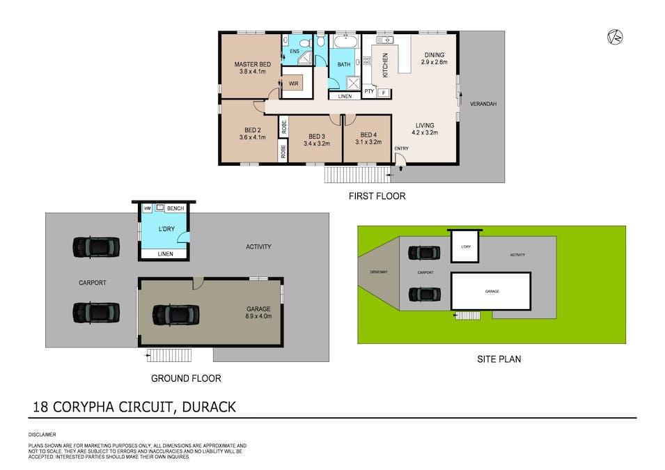 18 Corypha Circuit, Durack, NT, 0830 - Floorplan 1