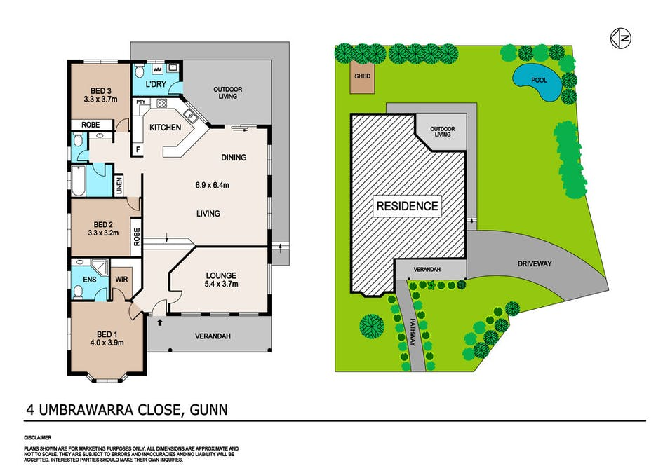 4 Umbrawarra Close, Gunn, NT, 0832 - Floorplan 1