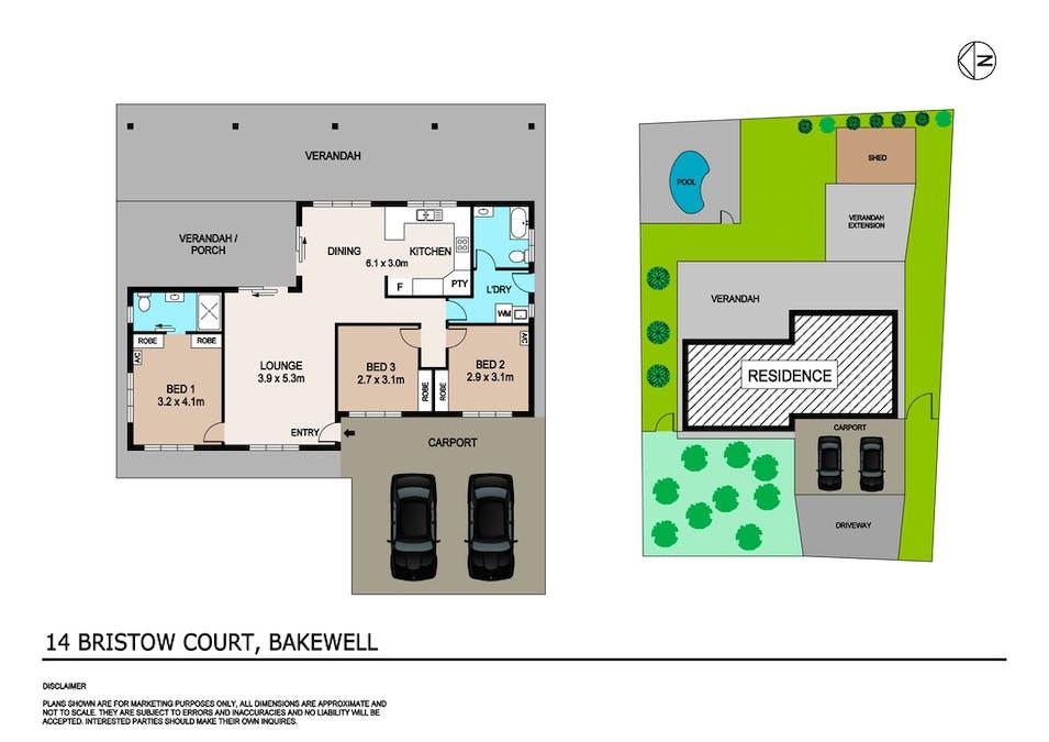 14 Bristow Court, Bakewell, NT, 0832 - Floorplan 1