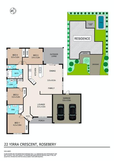 22 Yirra Crescent, Rosebery, NT, 0832 - Floorplan 1