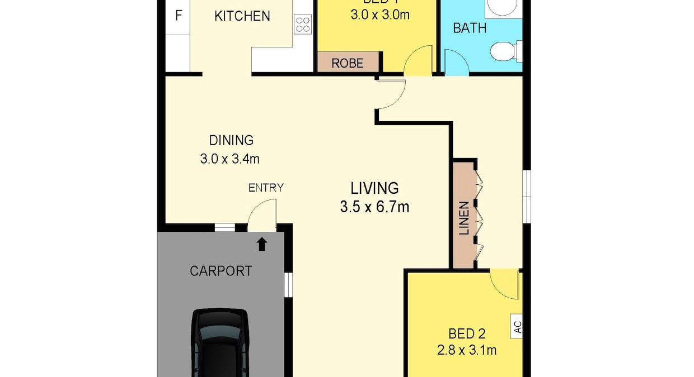 3/1 Armstrong Street, Leanyer, NT, 0812 - Floorplan 1