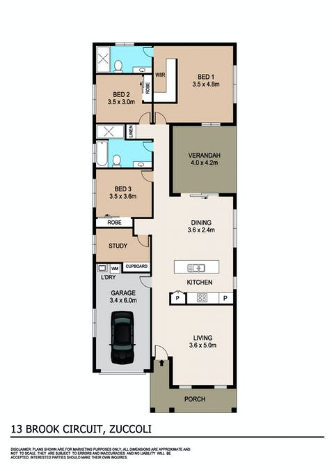 13 Brook Circuit, Zuccoli, NT, 0832 - Floorplan 1