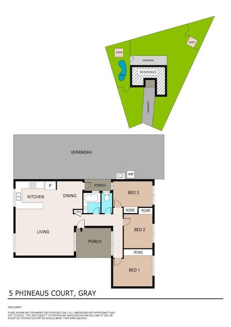 5 Phineaus Court, Gray, NT, 0830 - Floorplan 1