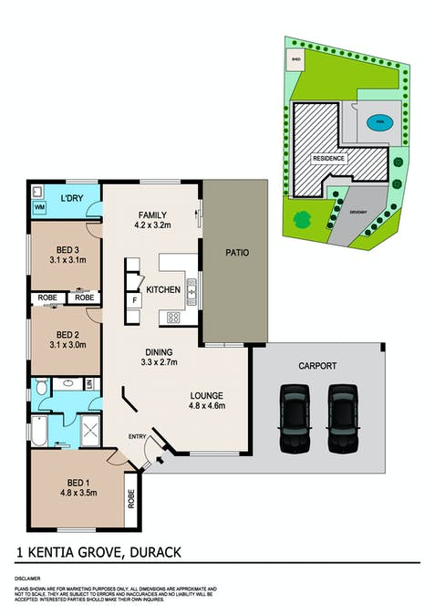1 Kentia Grove, Durack, NT, 0830 - Floorplan 1