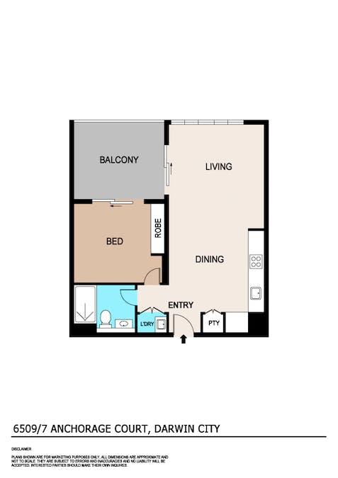 6509/7 Anchorage Court, Darwin, NT, 0800 - Floorplan 1