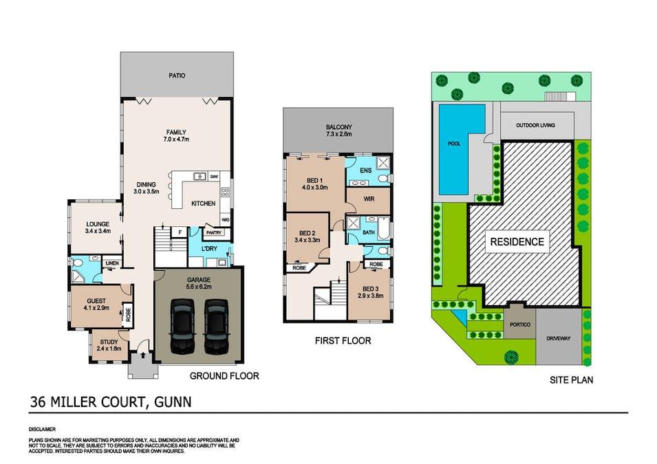 36 Miller Court, Gunn, NT, 0832 - Floorplan 1