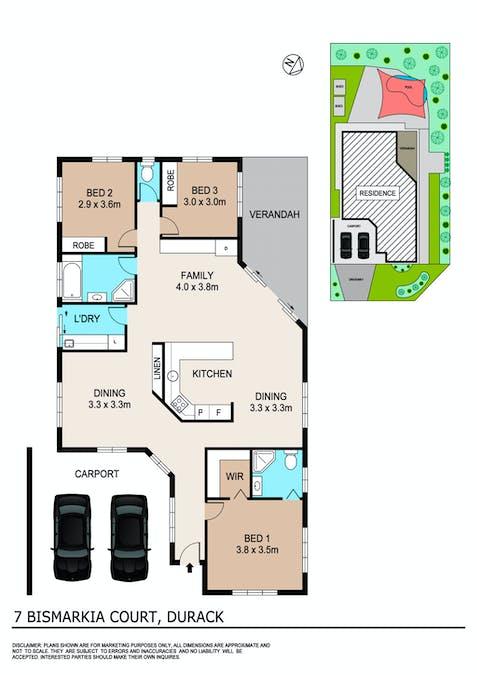 7 Bismarkia Court, Durack, NT, 0830 - Floorplan 1