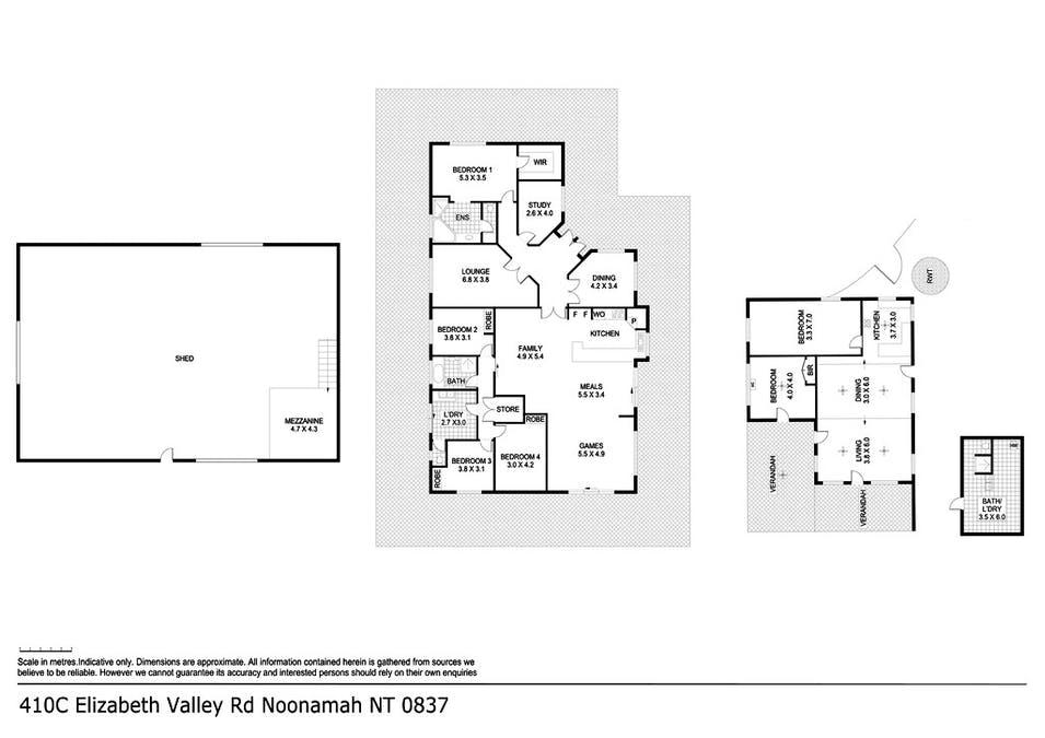 410C Elizabeth Valley Road, Noonamah, NT, 0837 - Floorplan 1