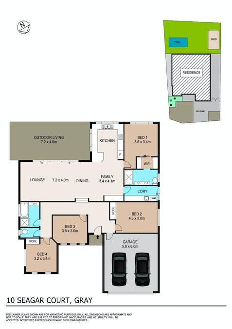 10 Seagar Court, Gray, NT, 0830 - Floorplan 1