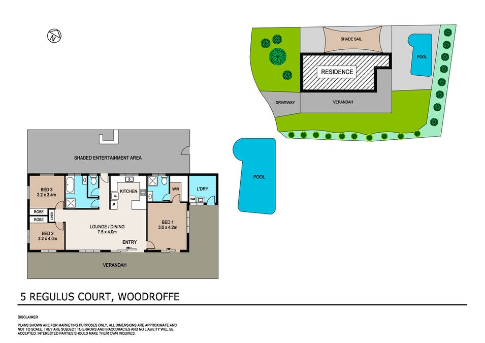 5 Regulus Court, Woodroffe, NT, 0830 - Floorplan 1