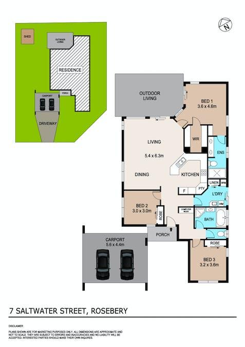 7 Saltwater Street, Rosebery, NT, 0832 - Floorplan 1