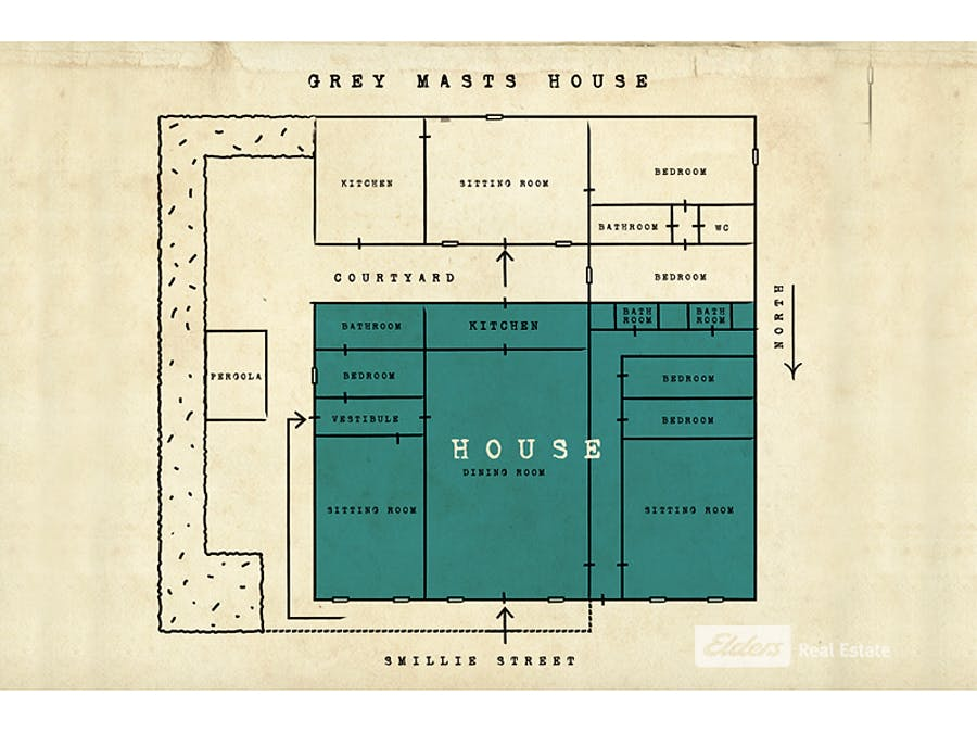 38 Smillie Street, Robe, SA, 5276 - Floorplan 1