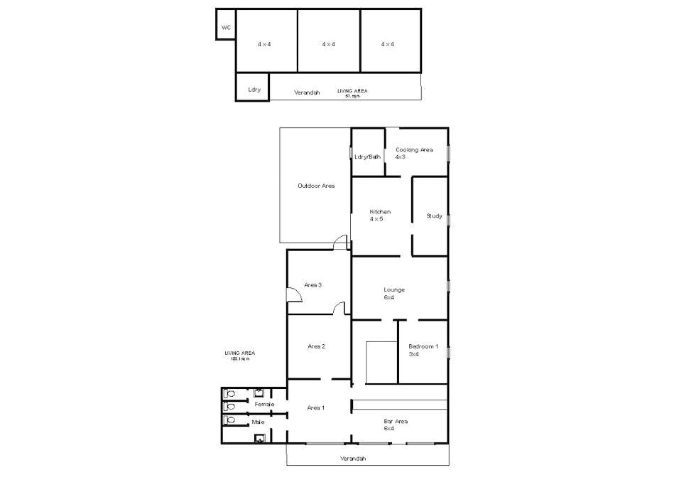 32 Railway Terrace, Wunkar, SA, 5311 - Floorplan 1