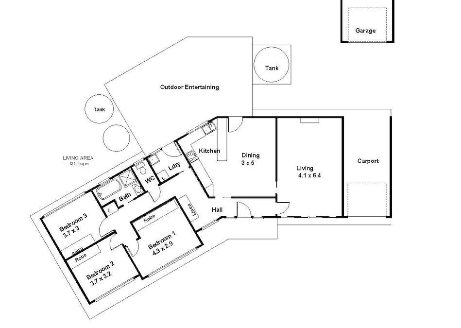 1 Vasey Street, Barmera, SA, 5345 - Floorplan 1